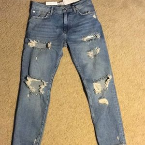 New! Zara Distressed Jeans